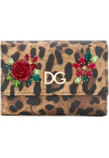 Dolce & Gabbana Carteira Com Animal Print - Preto