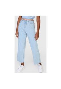 Calça Jeans Hering Reta Pespontos Azul