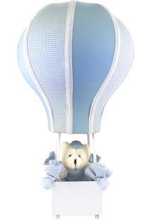 Abajur Balãozinho Cintura Urso Azul Quarto Bebê Infantil Menino