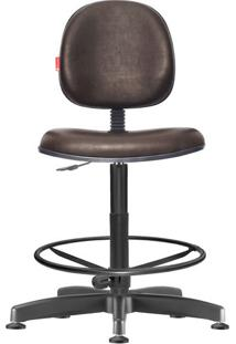 Cadeira Caixa Alta Executiva Giratória Courvin Marrom Café