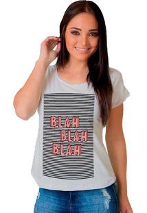 Camiseta Shop225 Blah Blah Blah Branco - Branco - Feminino - Dafiti