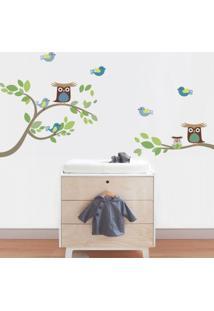 Adesivo De Parede Balihai Stickers 160X137 Owl Born Colorido