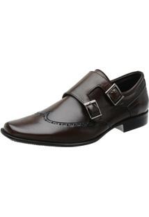 Sapato Social Stefanello Tebas - Masculino-Marrom