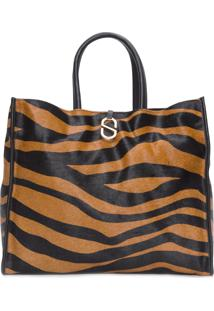 "Bolsa Feminina Shopping Bag ""A To Z"" Zebra Soft - Animal Print"