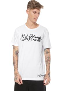 Camiseta Ed Hardy 1971 Branca
