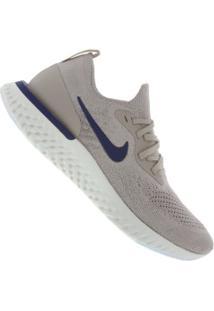 Tênis Nike Epic React Flyknit - Masculino - Marrom Claro