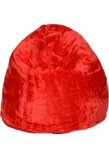Puff Soft Pelúcia Vermelho