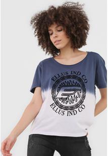 Blusa Ellus Gaze Tie Dye Azul