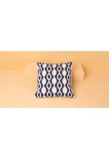 Capa De Almofada Maco Cor: Azul Marinho - Tamanho: Único