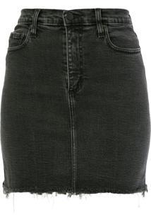 Nobody Denim Saia Jeans Siren - Preto