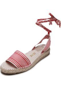 Sandália Santa Lolla Listrada Vermelha