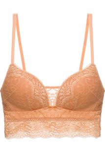 Sutiã Top Bojo Renda Love Lace Gold