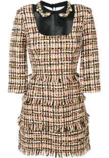 5ed3f88a6 Elisabetta Franchi Tweed Mini Dress - Neutro