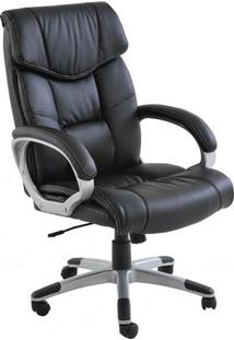 Cadeira Office Cartagena- Preta & Prateada- 121X73X7Rivatti