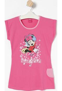 Camisola Minnie® Com Bolso - Rosa Escuro & Rosa Clarolupo