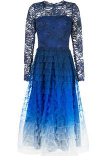 Tadashi Shoji Ombré Flared Dress - Azul