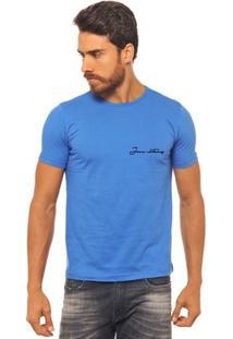 Camiseta Joss - Palmeira Flor - Masculina - Masculino-Azul