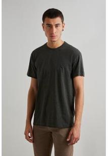 Camiseta Reserva Linho Masculino - Masculino-Verde
