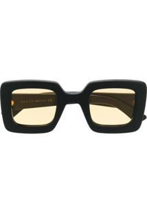 Gucci Eyewear Óculos De Sol Quadrado Gg - Preto