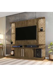 Estante Para Tv Até 60 Polegadas Com Led York 2075189 Rústico/3D - Bechara Móveis