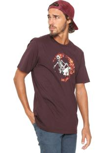 Camiseta ...Lost Surfer Skeleton Marrom