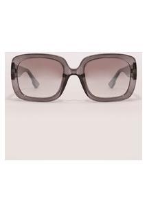 Óculos De Sol Quadrado Feminino Yessica Cinza