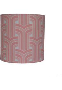 Cúpula De Abajur Abstrato 20X20Cm Rosê Ls Ilumina