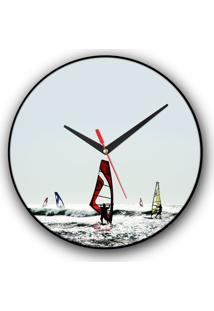 Relógio De Parede Colours Creative Photo Decor - Windsurf