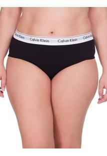Calcinha Modern Cotton Plus Size - Preto - 4Xl