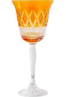 Taça De Cristal 220Ml Amarela Lodz