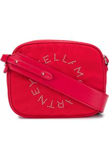 Stella Mccartney Bolsa Tiracolo Com Logo De Tachas - Vermelho