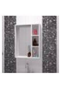 Armário Para Banheiro Com Espelho E 3 Nichos Bbn 03 - Branco
