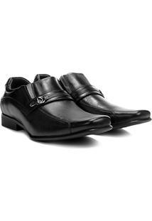Sapato Social Couro Rafarillo Senna Masculino - Masculino-Preto