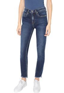 Calça Jeans Calvin Klein Jeans Slim Pockets Azul