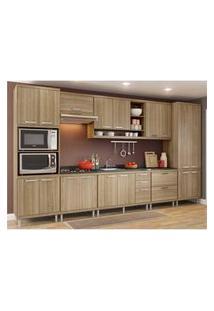 Cozinha Completa Multimóveis Com 8 Peças Sicília 5832 Argila/Argila