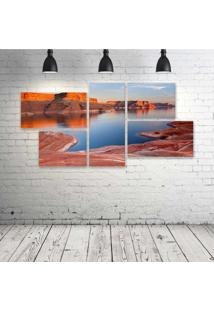 Quadro Decorativo - Padre-Bay-Lake-Powell-Utah - Composto De 5 Quadros