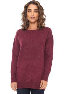 Suéter Vero Moda Tricot Liso Vinho
