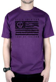 Camiseta Bleed American Land Of Freedom Roxo