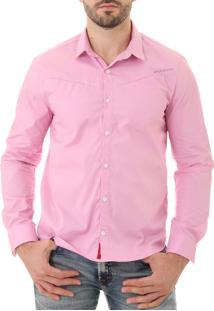 Camisa Opera Rock Com Recorte New Rosa