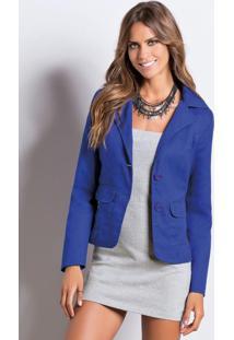 Blazer Quintess (Azul) Com Bolsos