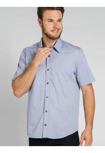Camisa Casual Azul