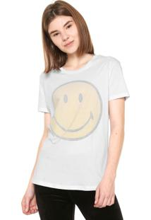 Camiseta Ellus 2Nd Floor Smiley Branca