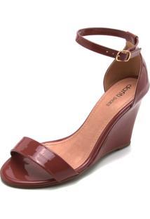 Sandália Dafiti Shoes Tiras Bordô