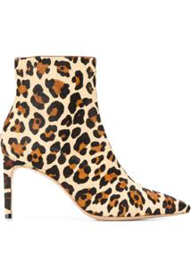 Sophia Webster Ankle Boot Animal Print - Marrom