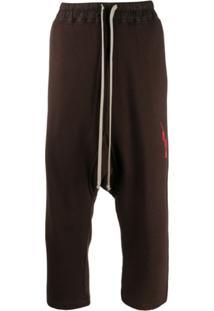 Rick Owens Drkshdw Drawstring Trousers - Marrom