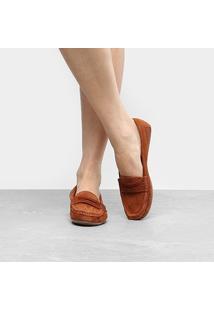 Mocassim Couro Shoestock Colors Feminino - Feminino