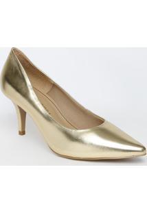 Scarpin Metálico Liso - Dourado - Salto: 9Cmmorena Rosa