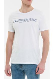 Camiseta Ckj Mc Est Calvin Ny - Branco 2 - Pp
