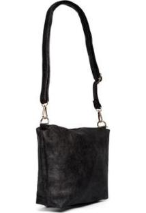 Bolsa Nice Bag Flat Alça Removível Textura Feminina - Feminino-Preto