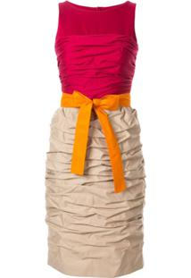Paule Ka Colour-Block Fitted Dress - Rosa